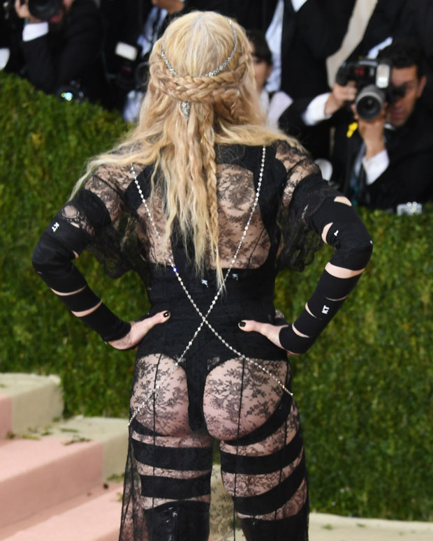 Mad shows off her risqué outfit at the Met Gala in New York. Photo/Getty