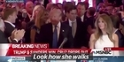 Watch: Watch: Reporter busted checking out Melania Trump live on TV
