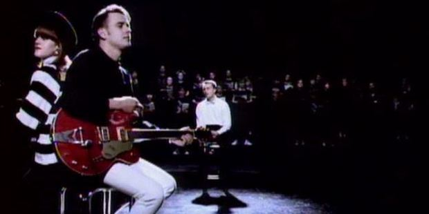 Scene from the music video.