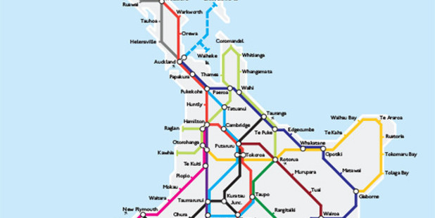 The Christchurch student created a London tube-style map to showcase NZ. Photo / Supplied