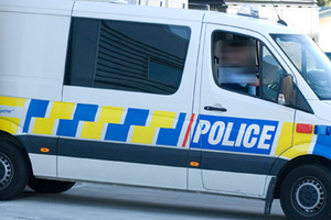 A drunken Hamilton man's finger was crushed in a police van door. File photo