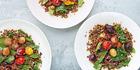 Puy lentils and quinoa salad. Photo / Bite magazine