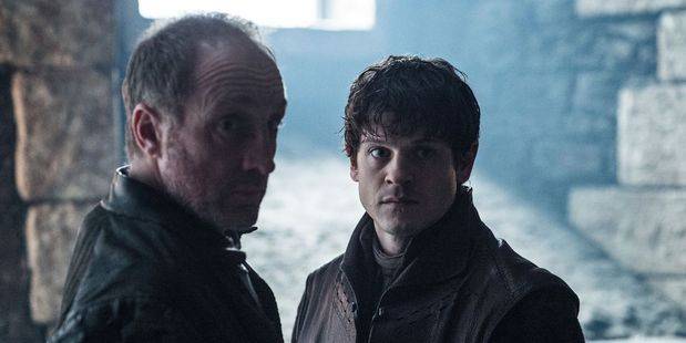 Roose and Ramsay Bolton engage in some father-son conversations on Game of Thrones. Photo/HBO