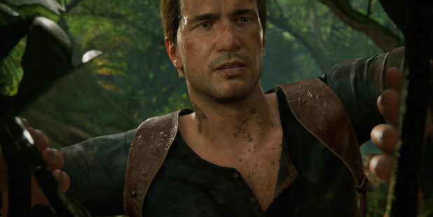 Nathan Drake in a scene from Uncharted 4.