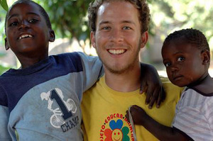 Bradley Syred in Mozambique. Bradley died in Sleeping God Canyon near Thames in the Kauaeranga Valley. Photo / Supplied