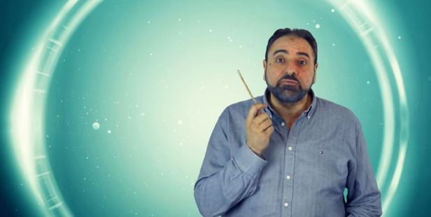 Fadel Soliman speaks on how the Koran advises men to discipline their wives using a small stick. Photo / YouTube