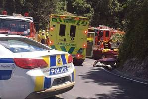 Scene of the bus vs car collision near Greymouth. Photo / Supplied