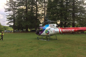 The Tauranga-based Trustpower TECT Rescue helicopter was dispatched to the area at 6.30pm. Photo / Supplied