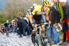 BATTLER: George Bennett tackles the hills in the Tour of Lombardia, Italy, last October. PHOTO/GRAHAM WATSON