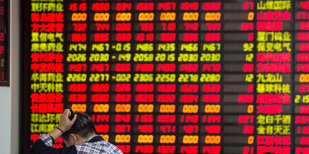 A measure of global equities headed for its worst inaugural session in at least three decades. Photo / Bloomberg