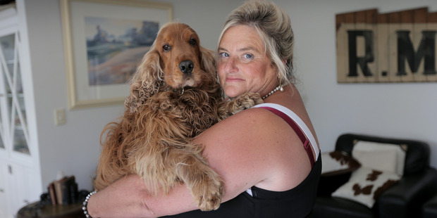 Loading Cherie de St Croix with her dog Ted at home in Orakei, Auckland. Photo / Doug Sherring