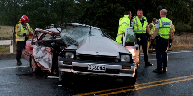 Waipawa roads claimed the region's first road death in five years at the weekend, on the corner of Ongaonga Rd and SH2 at the southern end of Waipawa River bridge. Photo / Warren Buckland