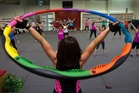 Powerhooping belies its colourful appearance and is a challenging workout. Photo / Brett Phibbs