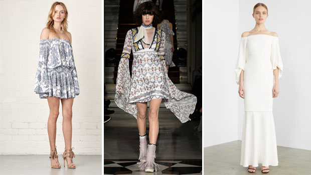 Examples of 70s-style nostalgic look, complete with tasselled shoes.