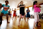 Cailin Sargent grooving at the Dance Moves Workshop part of the Paihia Summer Festival yesterday. Photo / John Stone