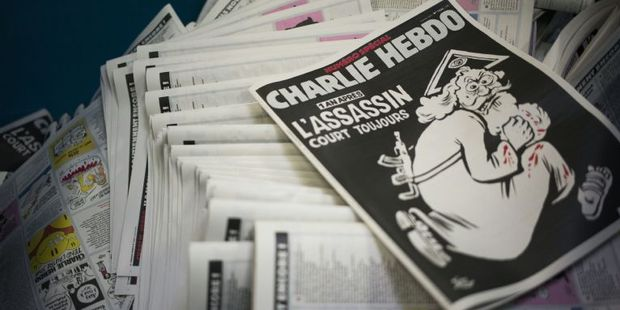 The latest issue of Charlie Hebdo has upset religious leaders. Photo / AFP