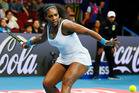Serena Williams in action. She says she used to find it hard going up against players with thinner bodies. Photo / AP