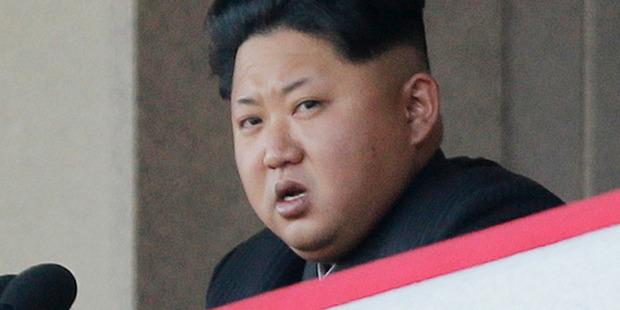 North Korean leader Kim Jong-Un delivers remarks at a military parade in Pyongyang, North Korea, in October 2015. Photo / AP