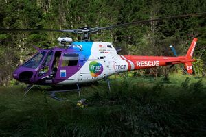 The TECT Rescue Helicopter airlifted the woman to Whakatane Hospital. Photo / Supplied
