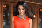 Amal Clooney gets lunch at a restaurant in New York. Photo / Getty Images