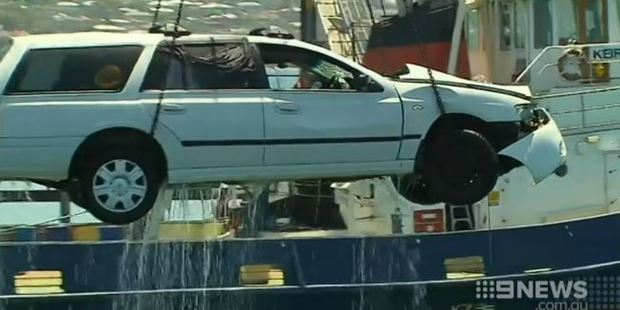 A young father drove himself and his two children to their deaths in Boston Bay, Australia. Photo / Nine News