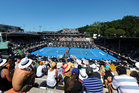 General view of centre court during ASB Classic Women's International. Photo: Chris Symes / Photosport