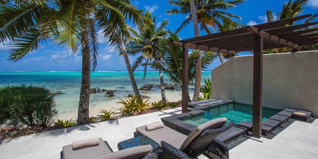 Beachfront Villa Suite at Te Manava Luxury Villas and Spa in Rarotonga.