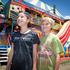 Bella Dixon, 10, and William Turner, 9, at Mahons Retro Carnival at the Village Green.