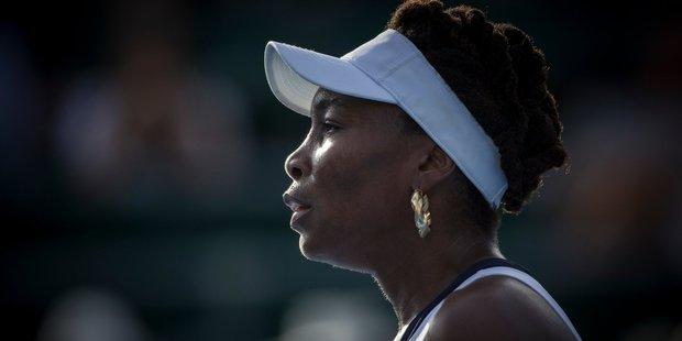 Venus Williams struggled with unforced errors. Photo / Greg Bowker