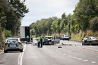 The crash, involving three cars and a truck, took place on State Highway 5 at Tarukenga, north of Rotorua, at around 11.45am, police said. Rotorua Daily Post / Andrew Warner