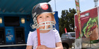 View: Young cricket fans catch the action
