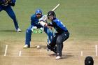 Black Caps captain Kane Williams batting against Sri Lanka at Bay Oval yesterday. Photo / George Novak