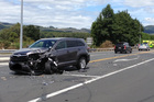 The scene on the corner of State Highway 30 and 33 today where a man was seriously injured. PHOTO/PIPPA BROWN