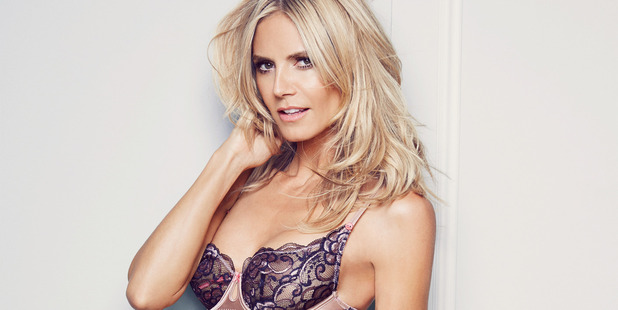 Heidi Klum wearing her Intimates collection.