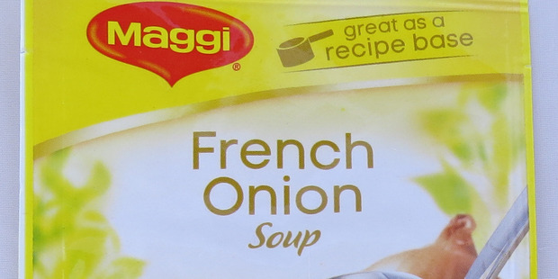 Maggi French Onion Soup. $1.45 for 29g. Photo / Supplied