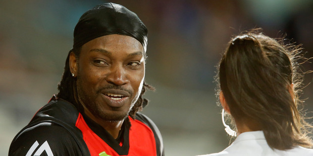 Gayle said he had wanted to be interviewed by her to see her eyes for the first time.Photo / Getty Images