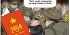 View: Cartoon: North Korean red book