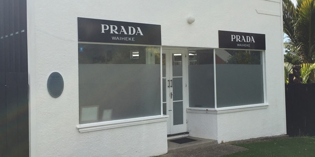 """Tex Edwards says for every $100 spent on his Prada signs he gets 20 smiles back """"so it's worth it"""". Photo / Supplied"""