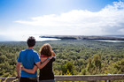 The Te Haerenga guided walk on Rangitoto offers prime views of Motutapu.