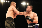 Joseph Parker fighting Daniel Martz. Photo / Photosport