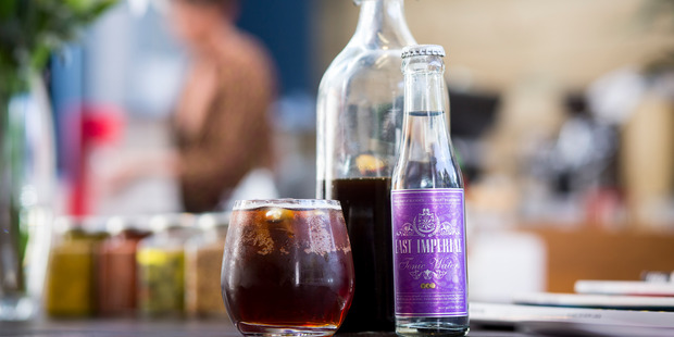 Cold drip coffee served on ice with tonic from Weirdough and Tuck. Photo / Dean Purcell