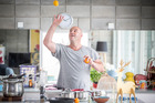 Leigh Hart is a keen cook and would like more men to pick up a saucepan. Photo / Michael Craig