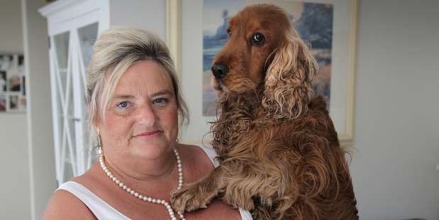 Owner Cherie de St Croix has denied listing her neighbours' names on the permit application in a way which suggested they supported her bid to keep two dogs at home. Photo / Doug Sherring
