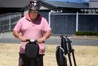 Gary McKinnon of Zway Rentals demonstrates Segway riding at Handley St Reserve. Photo / Bevan Conley