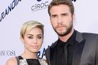 Miley Cyrus and Liam Hemsworth. Photo / AP