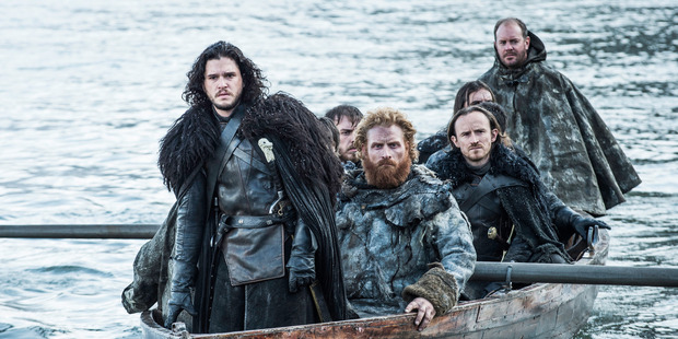 Kit Harington as Jon Snow, left, in a scene from Game of Thrones. Photo / Supplied
