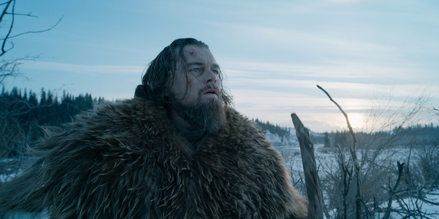 Leonardo DiCaprio in a scene from the filmThe Revenant. Photo / AP