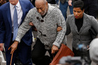 Bill Cosby's perp-walk was a masterclass in manipulation. Photo / AP