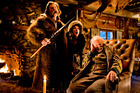Kurt Russell, Jennifer Jason Leigh and Bruce Dern are among the ne'er-do-wells trapped together in The Hateful Eight. Photo / AP