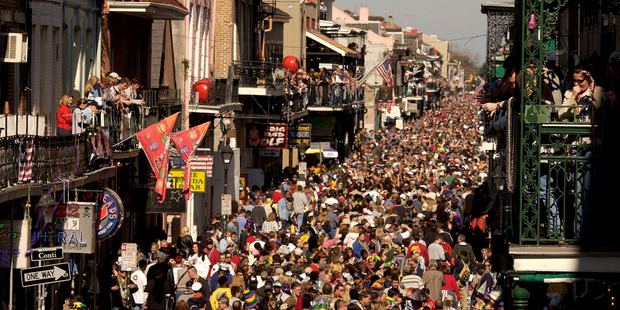 Crowds at the French Quarter. Photo / AP